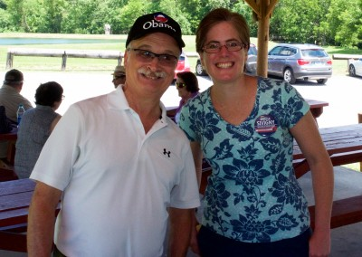 CCDemClub Picnic 2016, Mark Wilson and Donna Sivigny