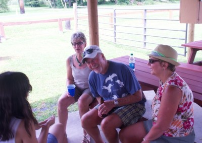 CCDemClub Picnic 2015, Janine Wilson, Jack and Sabrina Crawmer. Photo by Mitch Edelman