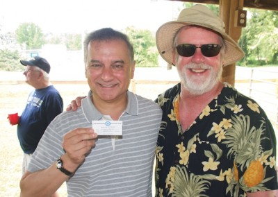 CCDemClub Picnic 2015, Kumar Barve and Don West. Photo by Mitch Edelman